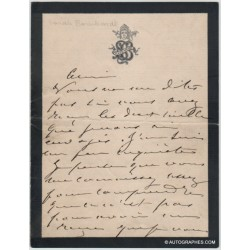 Sarah Bernhardt : Lettre...