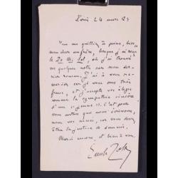 Emile Zola : Lettre signée...