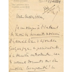 Charles Maurras : Signed...