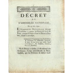 Flight to Varennes: Decree...