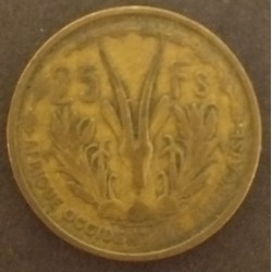 Coin French West Africa 25...