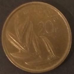 Coin Belgium 20 Francs 1982