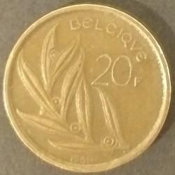 Coin Belgium 20 Francs 1981