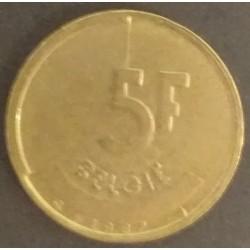 Coin Belgium: Baudouin 5...