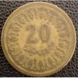 Coin Tunisia: 20 Millimes 1960