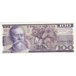 Billet Mexique : 100 Pesos...