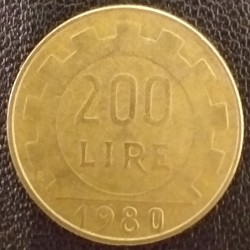 Coin Italy: 200 Lire 1980