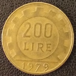 Pièce Italie : 200 Lires 1979