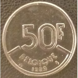 Coin Belgium: 50 Francs...