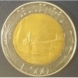 Coin Italy: 500 lire 1987
