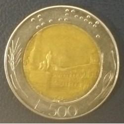 Coin Italy: 500 lire 1988