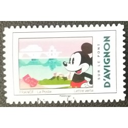 France stamp: Mickey On the...