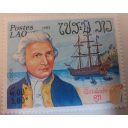 Laos stamp: Cook 1983 Explorer