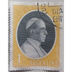 Argentina Stamp: Pius XII...