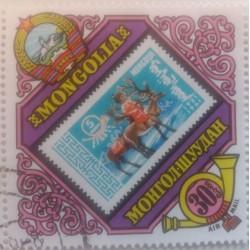 Mongolian stamp: 30 Tugrik...