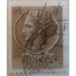 Italy stamp: 20 lire
