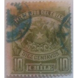 Chile stamp: 10 centimes