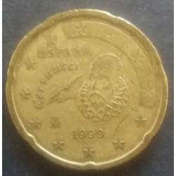 Münze Spanien Euro 20 Cent 1999 Cervantes