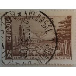 Sello de Argentina: 5 Pesos...