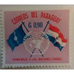 Paraguay stamp: 90 cents UN