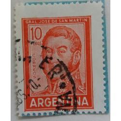 Argentine stamp: 10 Pesos...