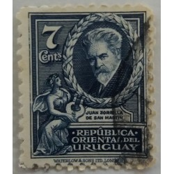 Timbre Uruguay  : 7 cents...