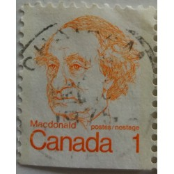 Canada Stamp: 1 cent MacDonald