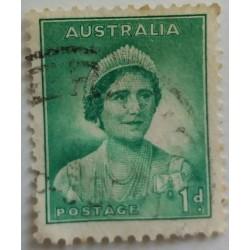 Australia stamp: 1 d