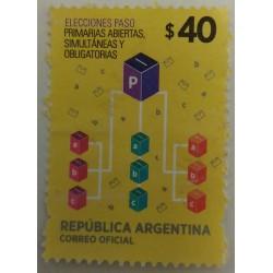 Argentina stamp: $ 40...