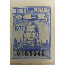 Paraguay stamp: 5G 1977