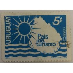 Uruguay Stamp: $ 5 Tourism...