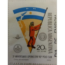 Argentina stamp: 90 cents...