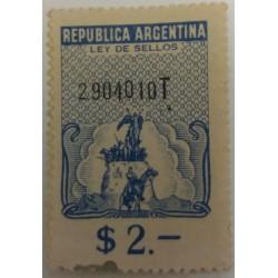Argentina stamp: $ 2