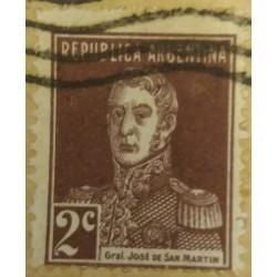 Sello argentino: 2 centavos...