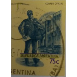 Argentina Stamp: 75 cents...