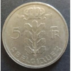 Piece Belgium: 5 Francs...