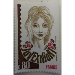 Stamp France: 80 Centimes...