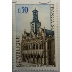 Stamp France: 50 Centimes...