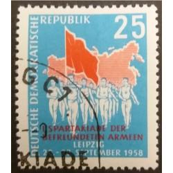 Stamp DDR 25 Pfennig I...