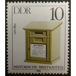 GDR stamp: Historic post...
