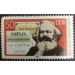 DDR stamp: Year Karl Marx...