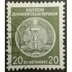 DDR stamp: 20 Dienstmarke