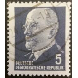 DDR stamp : 5 Pfennig