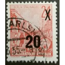 DDR Stamp: Stalin Allée...