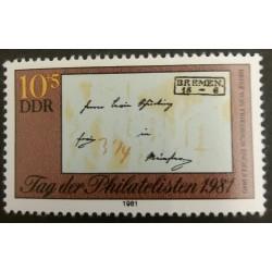 DDR Stamp: Letter Friedrich...