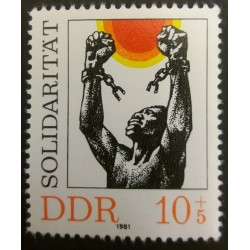 DDR Stamp: Solidarity 15...