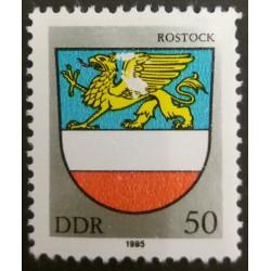 GDR stamp: Rostock 50...