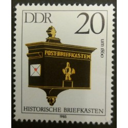 GDR stamp: Historic mail...