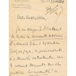 Charles Maurras : Lettre...