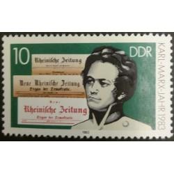 GDR stamp: Year Karl Marx...
